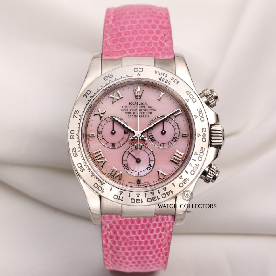 ad9297d3c39 Rolex Daytona Beach Pink 116519 18K White Gold for  26