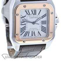 Cartier Santos 100 pre-owned 42.8mm Crocodile skin