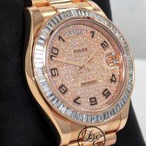 Rolex Day-Date II Ροζέ χρυσό 41mm Χρυσό