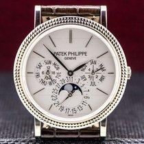 Patek Philippe Bílé zlato Automatika Stříbrná 38mm použité Perpetual Calendar