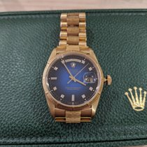 Rolex Day-Date 36 Yellow gold Blue No numerals Australia, Glendalough