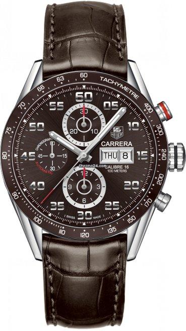 Tag Carrera Watch >> Tag Heuer Carrera Calibre 16 Brown Dial Men S Watch Cv2a1s Fc6236