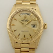 Rolex Day-Date 1803 Big Logo Clasp Very good Yellow gold 36mm Automatic