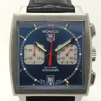 TAG Heuer Monaco Steel 38mm Blue No numerals