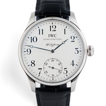 IWC Portuguese Hand-Wound pre-owned Silver Buckle