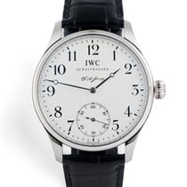 IWC Platinum Manual winding Silver pre-owned Portuguese Hand-Wound