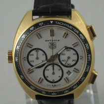 TAG Heuer Autavia Rose gold White No numerals