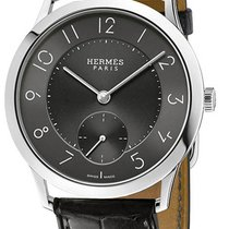 Hermès Slim d'Hermès Stahl Grau Arabisch