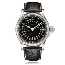 Longines Heritage Automatic Stainless Steel Black Dial Mens...