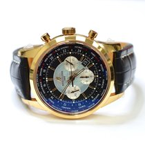 Breitling Transocean Chronograph 46mm 18K Rose Gold Watch on...