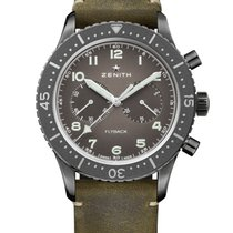 Zenith Steel Automatic Grey 43mm new Pilot Type 20 Annual Calendar
