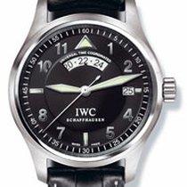 IWC Pilot Spitfire UTC Staal 39mm Zwart Arabisch