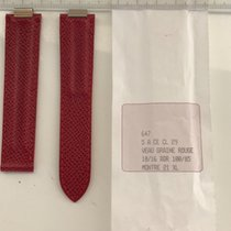 """Cartier Original Cartier red leather strap for """"Must21 XL"""""""