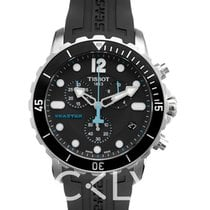 Tissot Men's Seastar Black Silicone Swiss Quartz Watch - T06