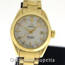 Omega Seamaster Aqua Terra Oro amarillo 29mm Madreperla