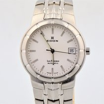 Edox Les Fondras Automatic Stainless Steel White Dial 35mm Watch
