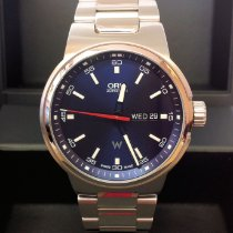Oris Williams F1 Stal 42mm Niebieski Bez cyfr