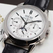 Patek Philippe Perpetual Calendar Chronograph White gold 41mm Silver No numerals United States of America, Texas, Houston