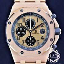 愛彼 Royal Oak Offshore Chronograph 玫瑰金 42mm 金色 阿拉伯數字
