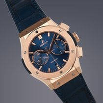 Hublot Classic Fusion Blue pre-owned 45mm Rose gold