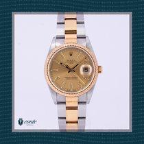 Rolex Oyster Perpetual Date Acero y oro 34mm Oro Sin cifras