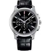 Zenith Captain Chronograph Steel 42mm Black No numerals