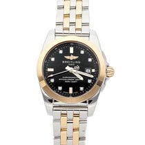 Breitling Galactic pre-owned 29mm Black Date Fold clasp