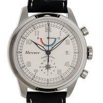 Mercure Chronograph 44mm Automatik neu Silber