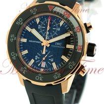 IWC Aquatimer Automatic Chronograph, Black Dial - Rose Gold on...