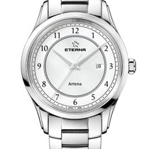 Eterna Artena Steel 40mm White Arabic numerals