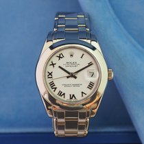 Rolex Lady-Datejust Pearlmaster White gold 34mm White Roman numerals