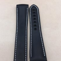 Omega Black Silicone/Rubber Watch Strap 22/18mm 98000296