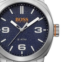 Hugo Boss Steel 45mm Quartz 1513419 new