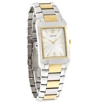 Concord Carlton Series Mens Silver Dial Two Tone Swiss Watch...