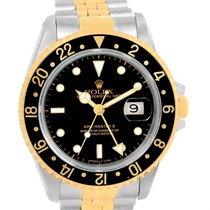 Rolex Gmt Master Ii Yellow Gold Steel Jubilee Bracelet Watch...
