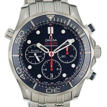 Omega Seamaster Diver 300m Co-Axial Chronograph Stahl Keramik...