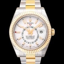 Rolex Yellow gold Automatic White new Sky-Dweller