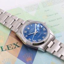 Rolex 2006 SS Datejust Blue Roman - 36mm w/ Rolex Box & Papers