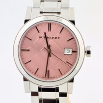 Burberry Pink Dial Stainless Steel Swiss Quartz Watch Bu9124