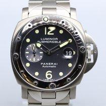 Panerai Luminor Submersible occasion 44mm Titane