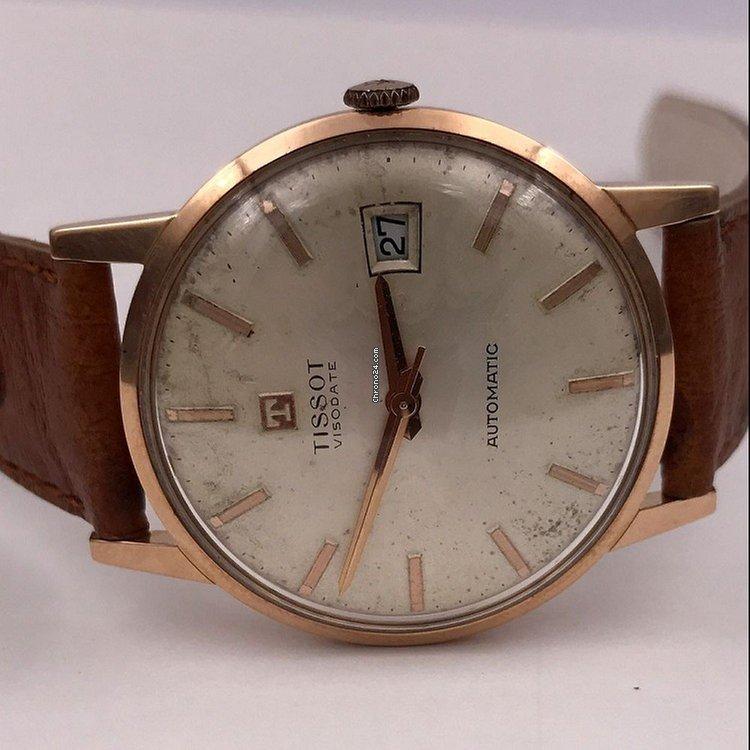 Automatic Visodate Vintage 18 Tissot Pink Gold Kts srthQCd