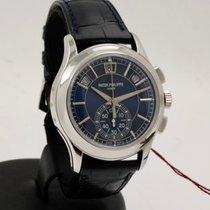 Patek Philippe Annual Calendar Chronograph Platinum 42mm Blue No numerals