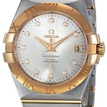 Omega Constellation Ladies Gold/Steel 35mm Silver