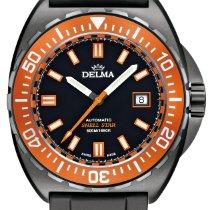 Delma Steel 44mm Automatic Shell Star Black Tag 44501.670.6.151 new
