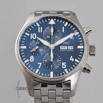 IWC Pilot Chronograph Acero 43mm Azul