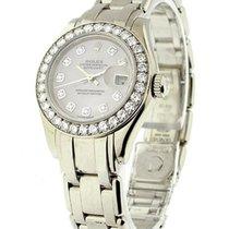 Rolex Unworn 80299 Ladys White Gold Masterpiece - 32 Diamond...