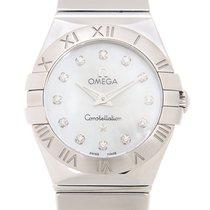 Omega Constellation Stainless Steel White Quartz 123.10.24.60....