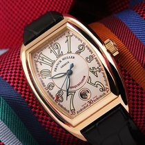 Franck Muller Rose gold Automatic Silver Arabic numerals 36mm pre-owned Conquistador