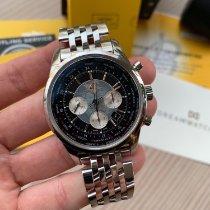 Breitling Kronograf 46mm Automatisk 2013 brugt Transocean Chronograph Unitime Sort