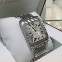 Cartier Tank Anglaise Steel 47mm Silver Roman numerals United Kingdom, Gateshead